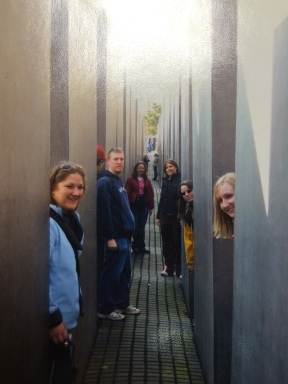 TAP teachers exploring the Memorial to the Murdered Jews of Europe in Berlin, Germany.
