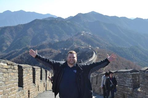 Mr. Curtis at one of the Seven Wonders of the World.  Yes, he's there.  Look closely.