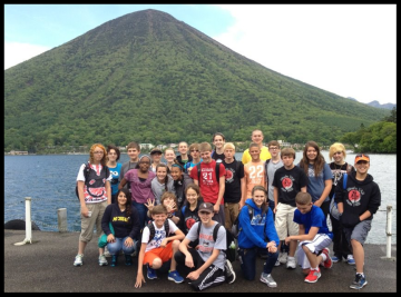 The whole group enjoyed a day alongside the volcano.