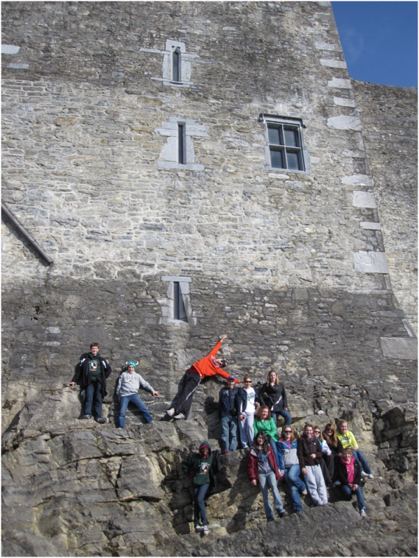 This is one of favorite pictures from Ireland. It pretty much sums up the trip – fun! Where else would you get to climb up the side of a castle and have a photo shoot!?!?  Ross Castle, Killarney, County Kerry, Ireland.