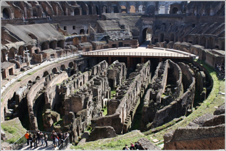 The inside of The Colosseum - You can almost hear Russell Crowe riling up the crowd.