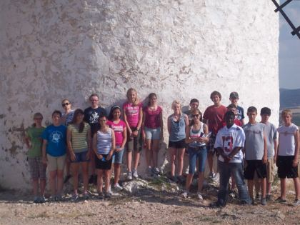 Our Spain group just after they attacked a completely innocent windmill.
