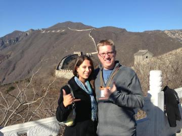 Me and my new friend Rebecca (a teacher from Hawaii) at the Great Wall.