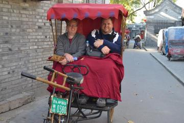 Nate (a teacher from South Dakota) and I rode around the Hutong District in style - a rickshaw.