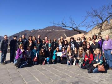 The whole gang at the Great Wall.