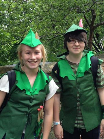 Some of us really got into the idea of playing Robin Hood in Sherwood Forest.