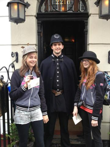 Outside 221b Baker Street, you could dress up like Holmes and Watson.