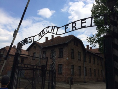 As we walked through the gates of Auschwitz, someone remarked that 70 years ago, people walking in didn't walk out.  That set the tone for the whole day.