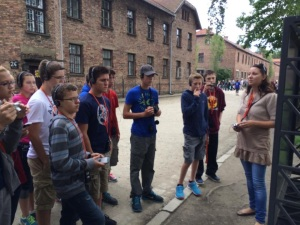 Before entering the buildings, the guide explained to us the layout of the camp.