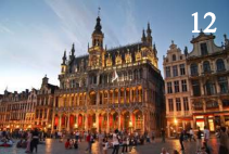 The amazing Town Hall in the Grand Place in Brussels, Belgium.