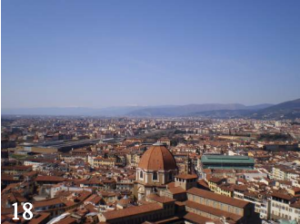 A view of Florence, Italy from above.