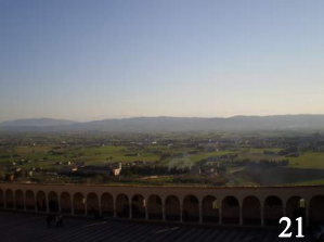 The view from the Basilica of San Francesco d'Assisi in Assisi, Italy.