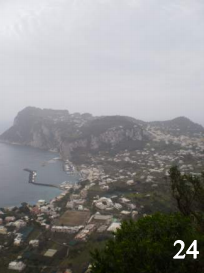 The view from the top of Monte Solaro in Capri.