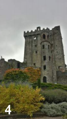 The famous Blarney Castle in Ireland.  It's said that if you climb to the top and kiss the magical Blarney Stone you'll be blessed with the gift of gab.