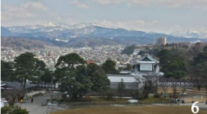 The view from the top of Kanazawa Castle in Japan.