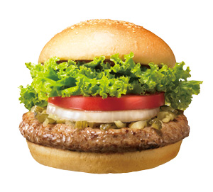The most for pleasant thing about the Freshness Burger was that it actually did look like the advertising picture.