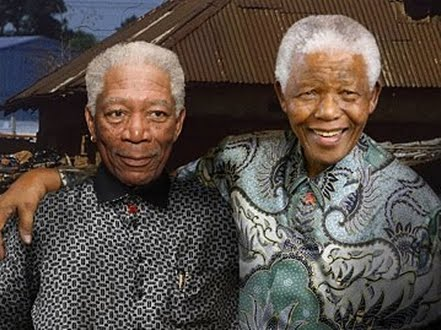 Mandela y Morgan Freeman