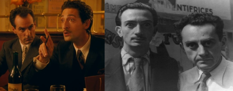 Tom Cordier as Man Ray with Oscar Winner Adrian Brody as Salvador Dali alongside the two friends in real life.