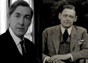 Actor David Lowe and poet T.S. Eliot.