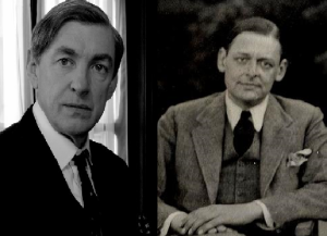 Actor David Lowe and poet T.S. Eliot.
