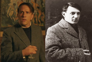 Marcial Di Fonzo Bo and the real Pablo Picasso.