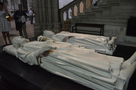 This is the final resting place of Charles V of France in the Basilica of St. Denis in Paris.  Mr. Curtis took this picture during his visit there last week.