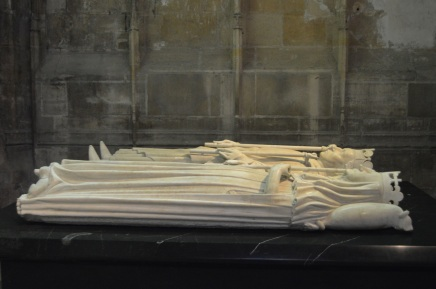 I got this picture of Charles VI's grave last week in Paris.  This one is also located in the Basilica of St. Denis.